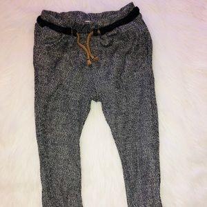 Zara kids 5T grey drawstring fashionable joggers
